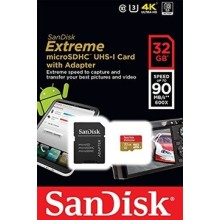 CARTE MEMOIRE Sandisk Extreme MICRO SDHC UHS-I 32Go Class 10