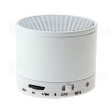 Mini Haut Parleur Bluetooth & MP3 Blanc