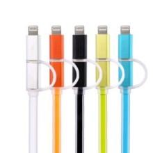 USB DATA CABLE 2 EN 1 LED T-53