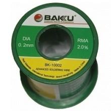 Fil d'étain bobine 100g, diamètre 0.2mm Baku BK-10002