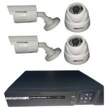 KIT 4 CAMERA AHD 1M 2DOM+2EX+DVR 4PORTS