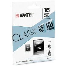 CARTE MEMOIRE MICRO SD 16G CLASS 10 EMTEC