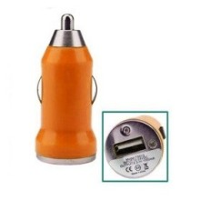 Mini Chargeur Allume Cigarette 1A 1 USB ACQUA Orange