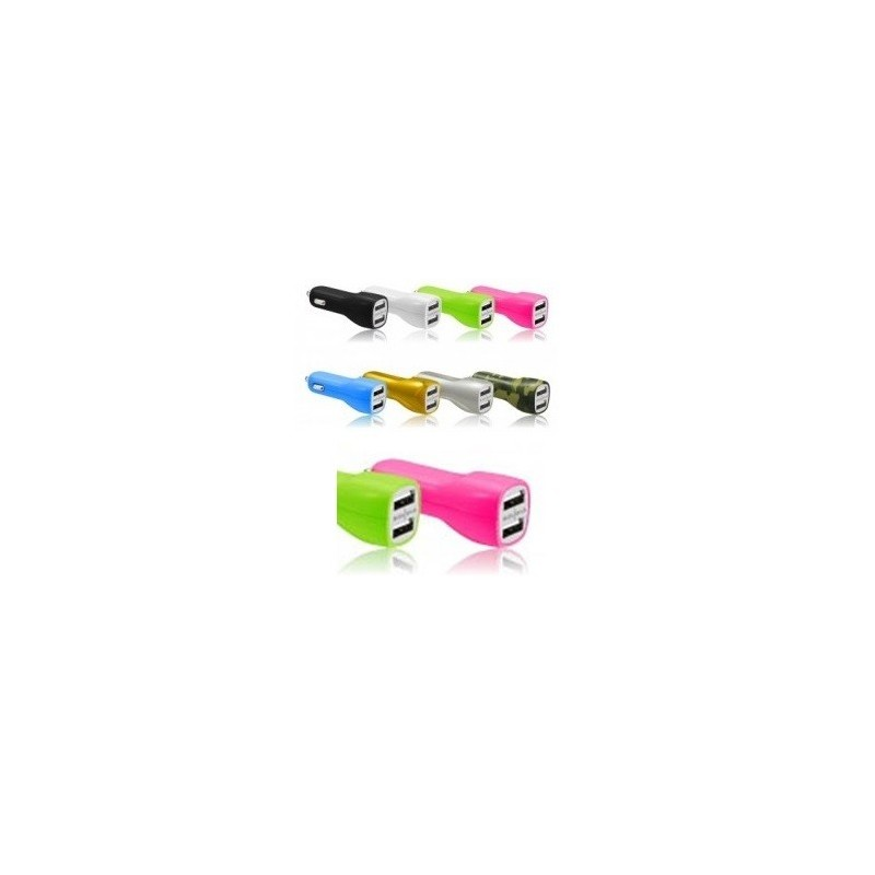 CHARGEUR VOITURE ALLUME-CIGARE ACQUA CY802 / 2USB 2,1A Rose