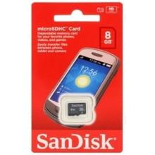 CARTE MEMOIRE MICRO SD 8G SANDISK