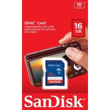 CARTE MEMOIRE SD 16Go Sandisk