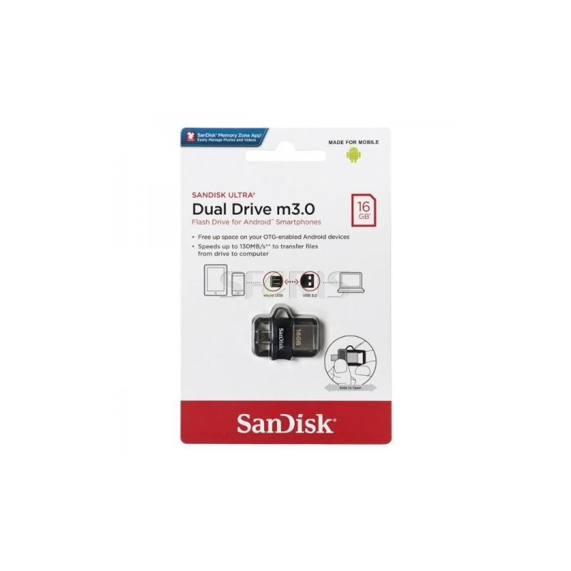 FLASH DISK 16Go SANDISK DUAL DRIVE USB 3.0