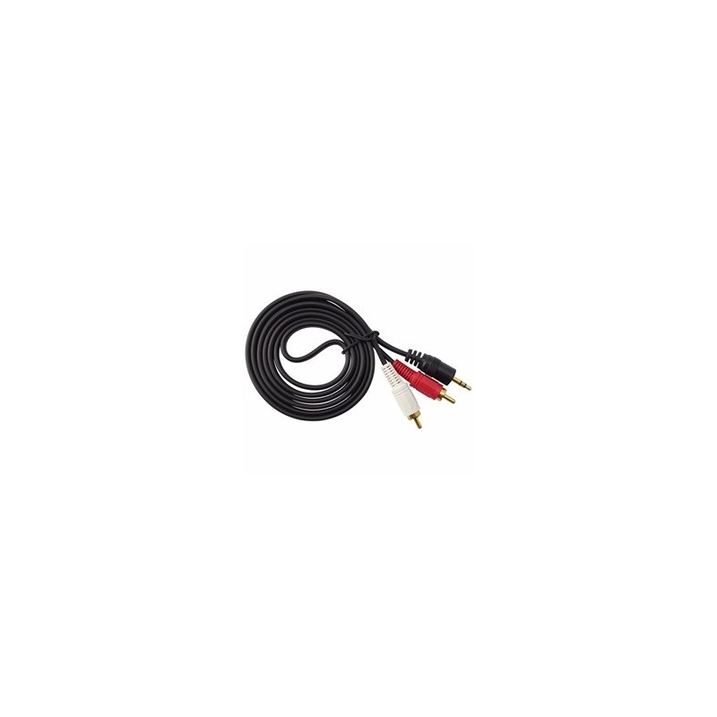 Cable jack vers 2 RCA 1,5m
