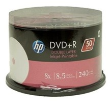 BOBINE DVD+R HP DOUBLE COUCHE IMPRIMABLE