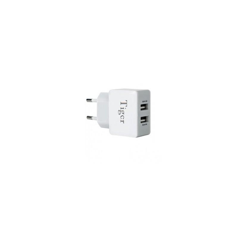 Chargeur Tiger 2.4A Dual USB Avec Câble