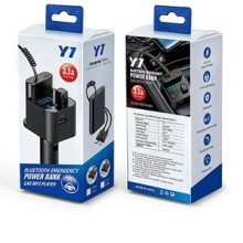 Y7 CHARGEUR ALLUME CIGARE MULTIFOCTION 3.1A + POWER BANK AVEC 2 CABLES ET LECTEUR MP3 BLUETUUTH