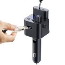 Y7 CHARGEUR ALLUME CIGARE MULTIFOCTION 3.1A + POWER BANK AVEC 2 CABLES ET LECTEUR MP3 BLUETUUTH