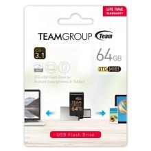 CLÉ USB OTG TYPE C 64Go TEAMGROUP M181 USB 3.1