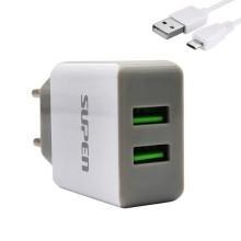 Chargeur SUPEN TB-019A 2.4A Dual USB Avec Câble MICRO USB